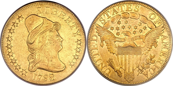 $10 Gold Capped Head Right EF45 Grading Image