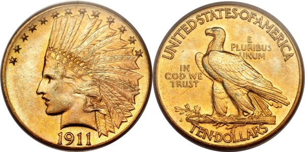 $10 Indian Head Eagle Gold Coin MS63 Grading image