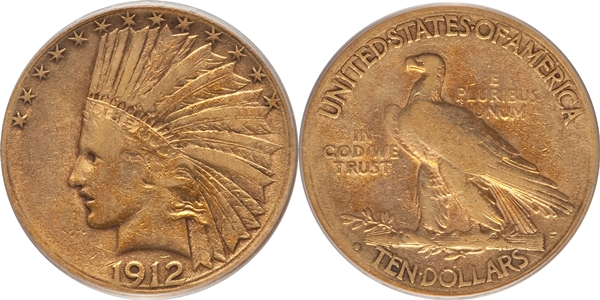 $10 Indian Head Eagle Gold Coin VF20 Grading image