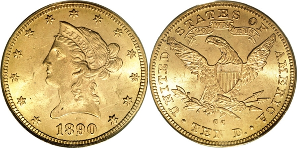 $10 Liberty Head With Motto Gold MS63 Coin Grading Image