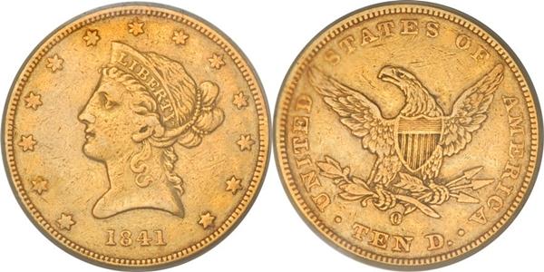 $10 Liberty Head No Motto Gold Coin VF25 Grading Image