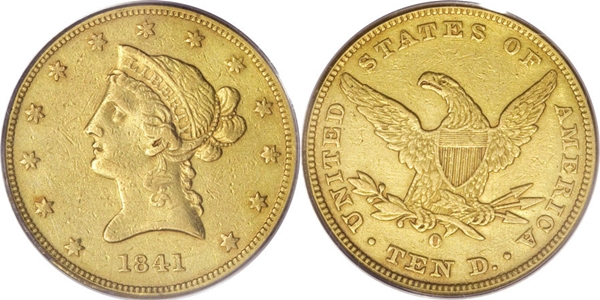 $10 Liberty Head No Motto VF35 Gold Coin Grading Image
