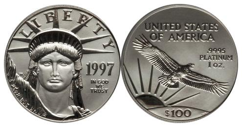 Most valuable $100 American Platinum Eagle Bullion values