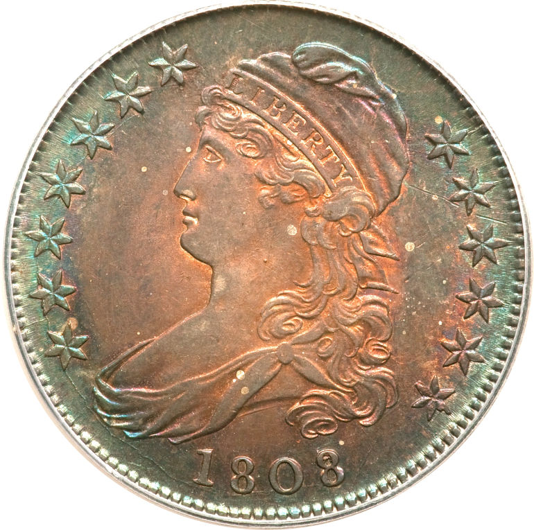 1808 Capped Bust Half Dollar Variety Images Overton Varieties