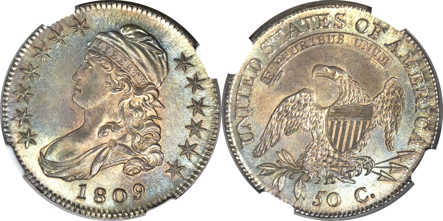 1809 Capped Bust Half Dollar Variety Images Overton