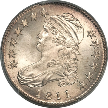 1811 Capped Bust Half Dollar Variety Images Overton