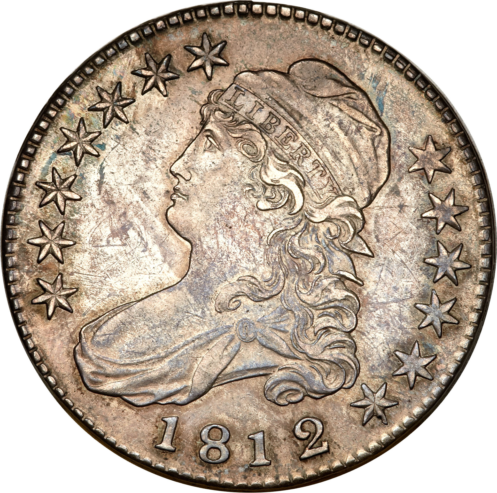 1812 Capped Bust Half Dollar Variety Images Overton