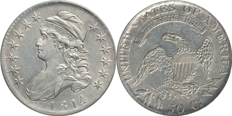 1814 Capped Bust Half Dollar Variety Images Overton