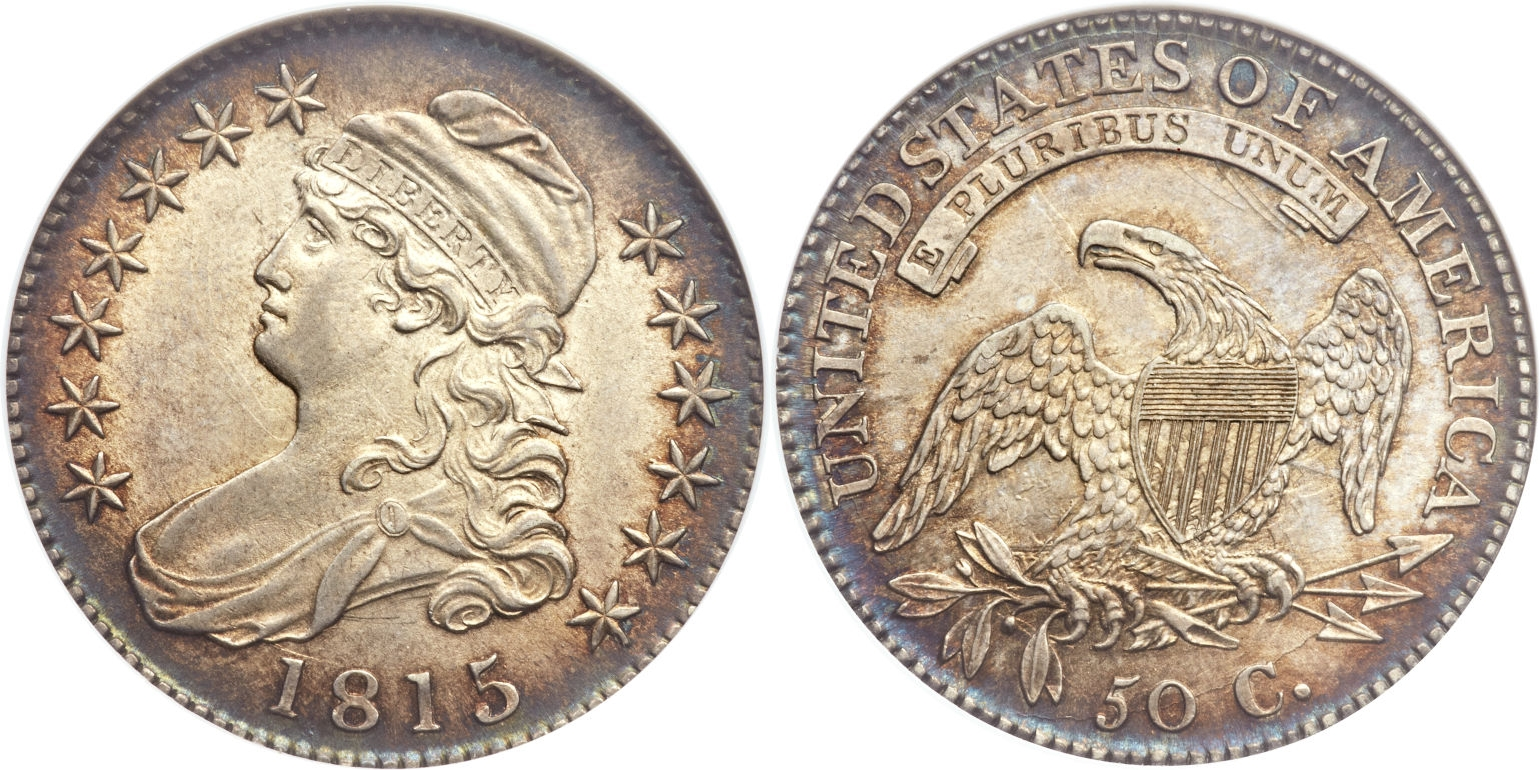 1815 Capped Bust Half Dollar Variety Images Overton 1815 2