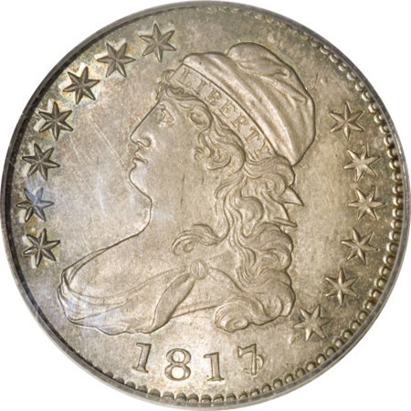 1817 Capped Bust Half Dollar Variety Images Overton