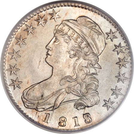 1818 Capped Bust Half Dollar Variety Images Overton