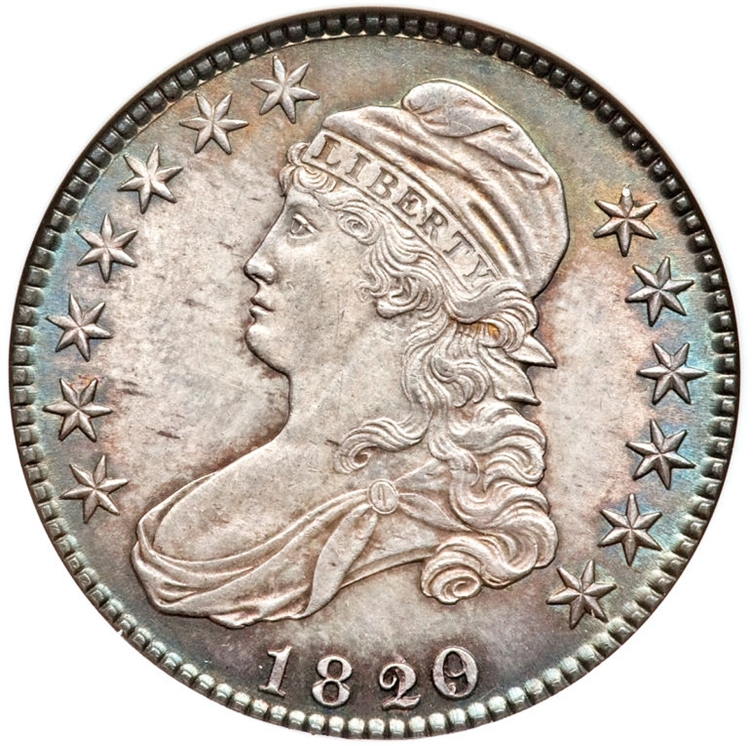 1820 Capped Bust Half Dollar Variety Images Overton