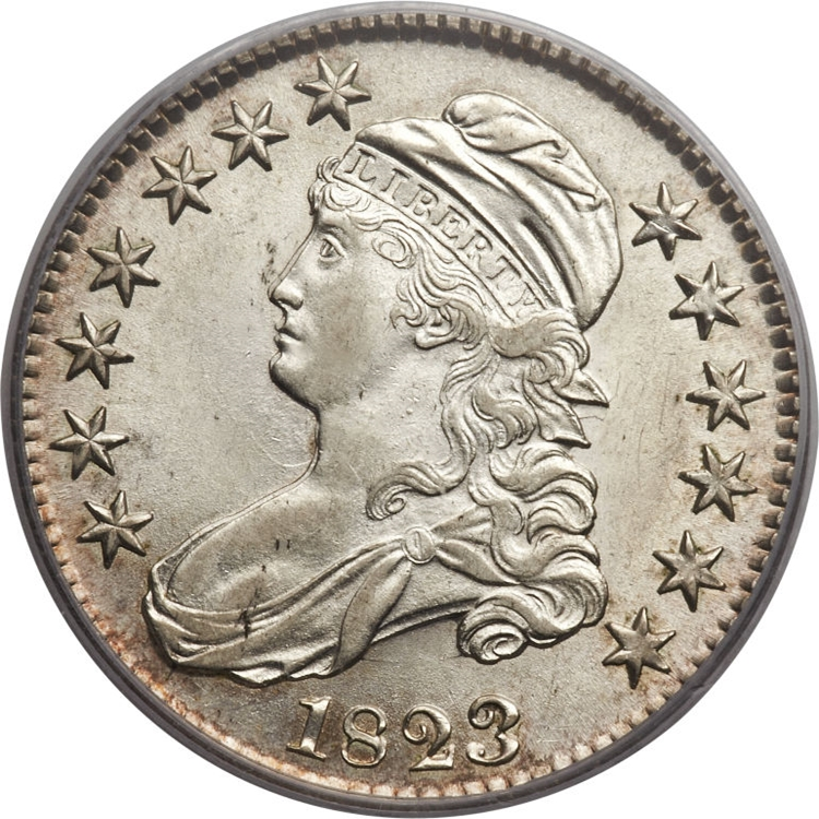 1823 Capped Bust Half Dollar Variety Images Overton