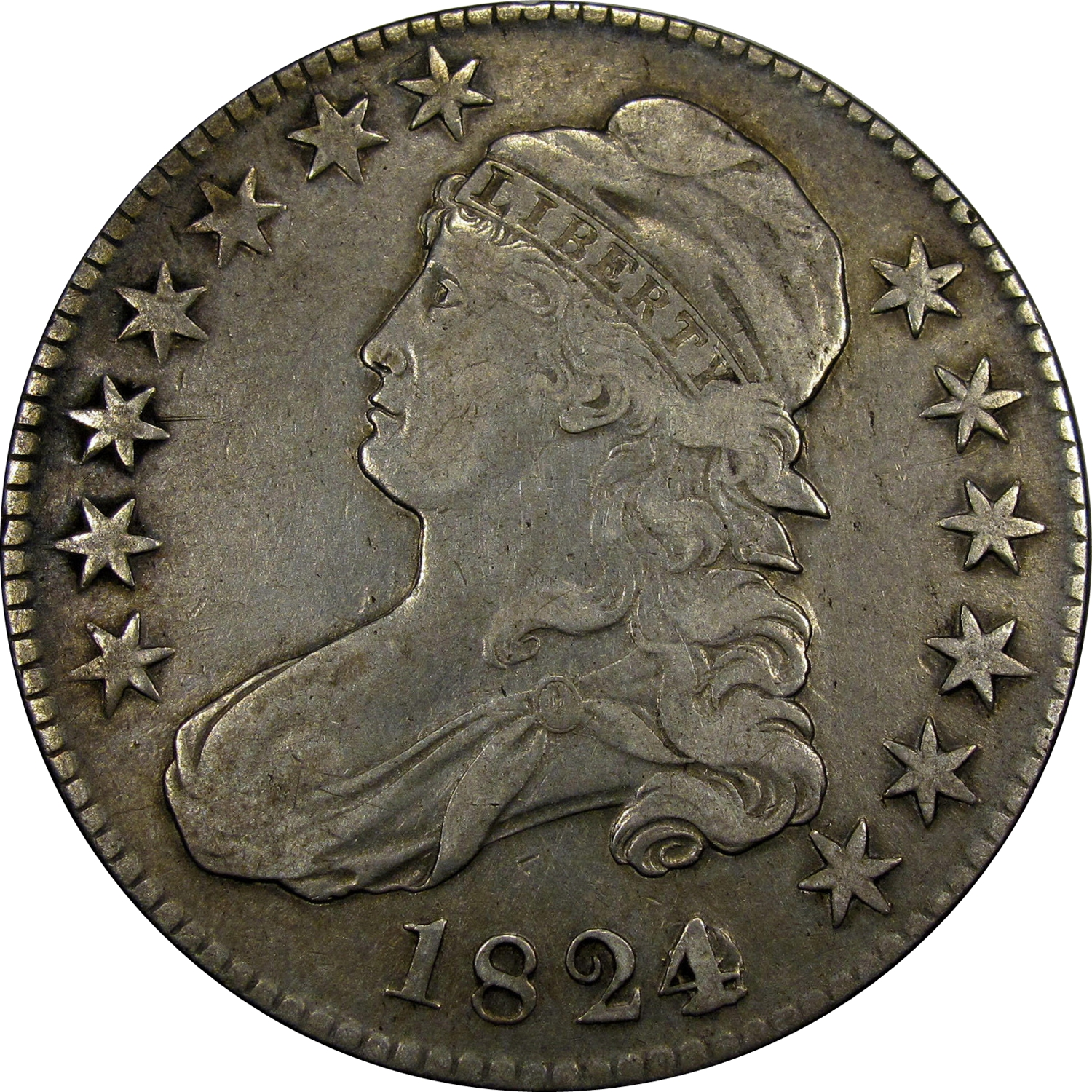 1824 Capped Bust Half Dollar Variety Images Overton
