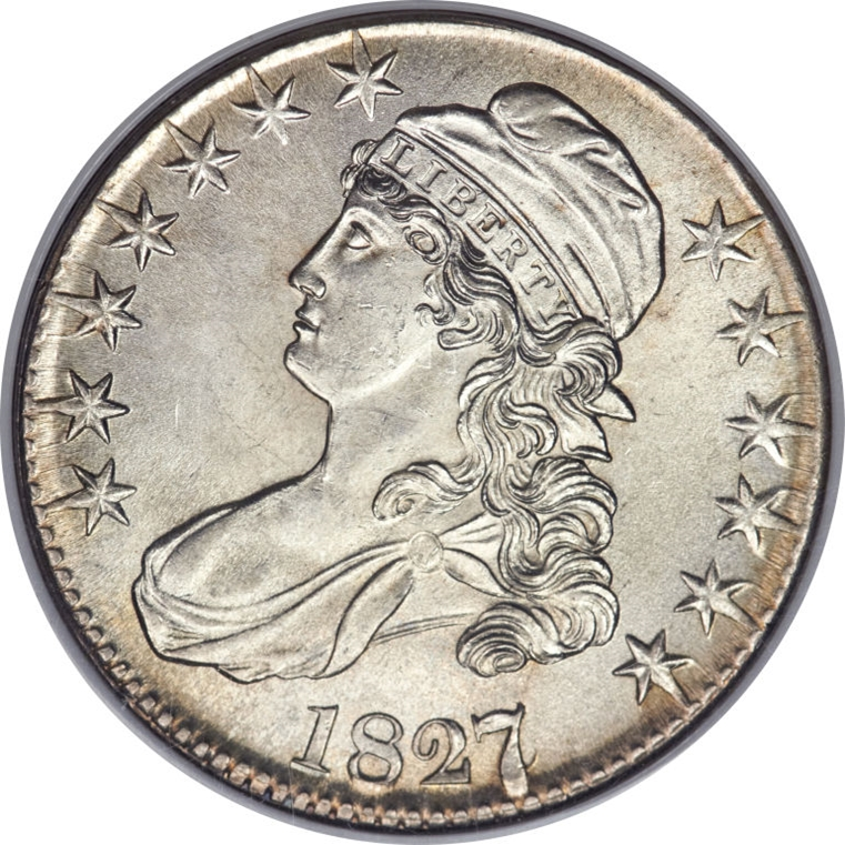1827 Capped Bust Half Dollar Variety Images Overton