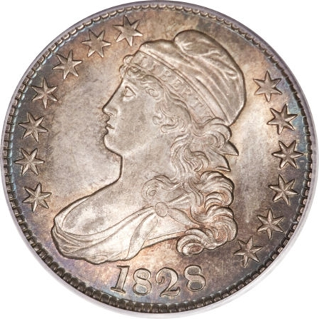 1828 Capped Bust Half Dollar Variety Images Overton