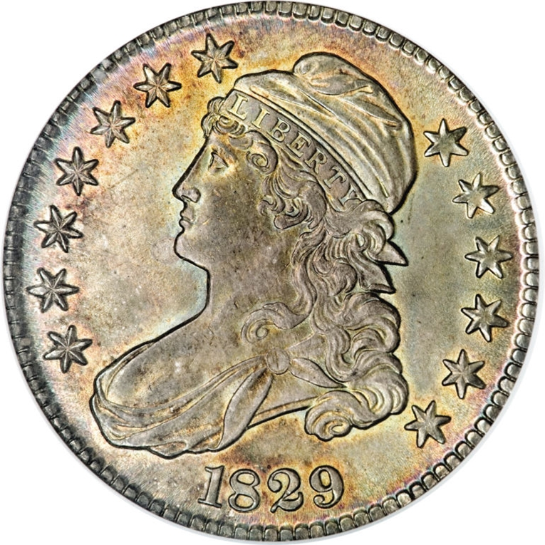 1829 Capped Bust Half Dollar Variety Images Overton