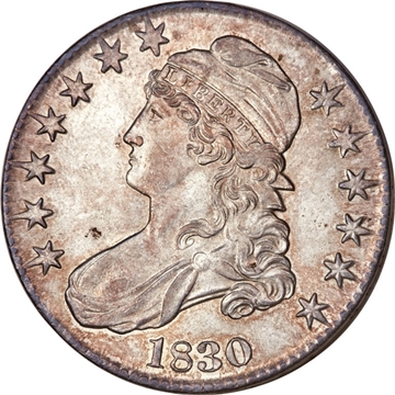 1830 Capped Bust Half Dollar Variety Images Overton