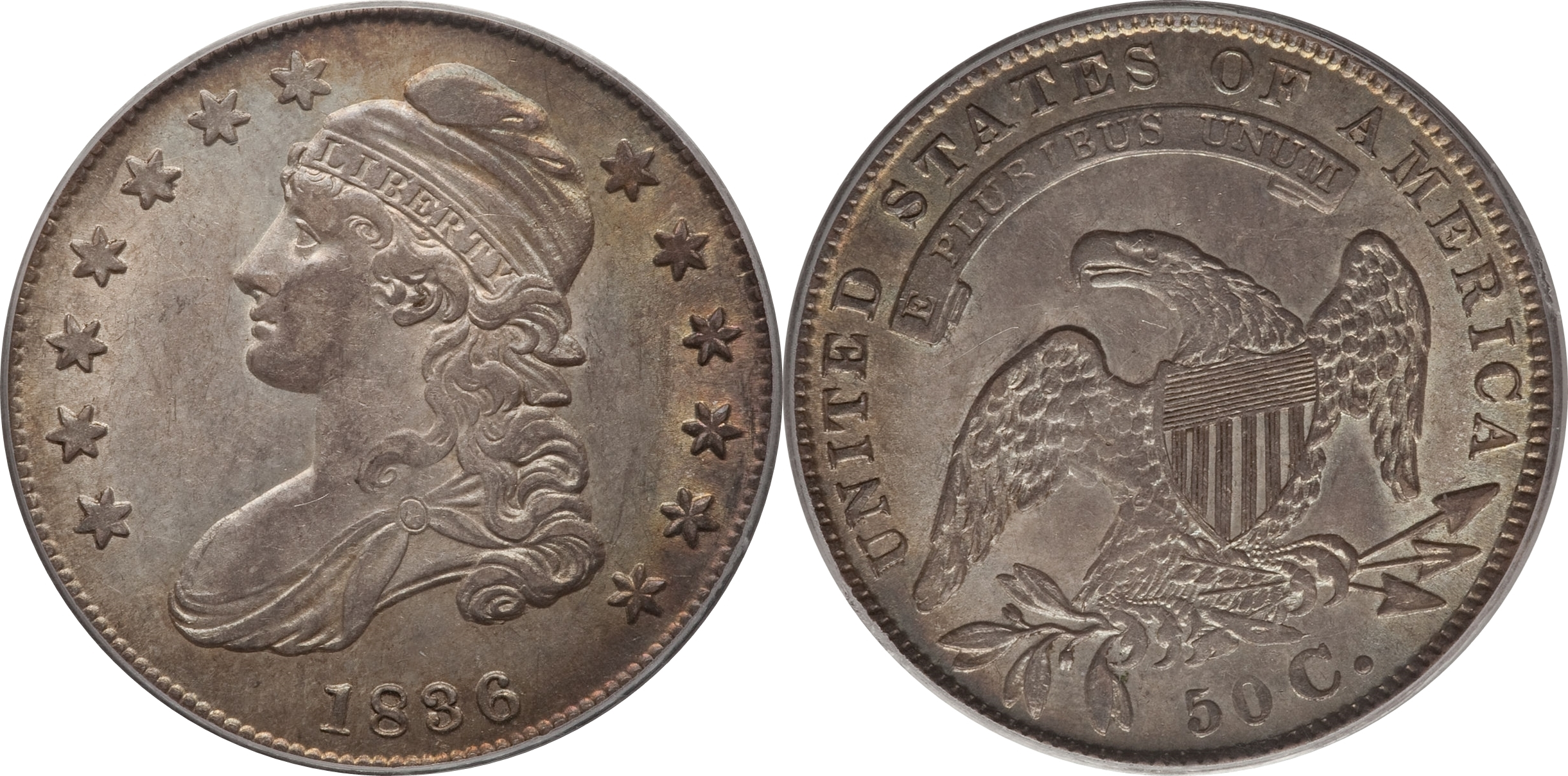 1836 Capped Bust Half Dollar Variety Images Overton