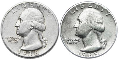 Silver Clad Washington Quarter Images