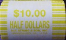How many half dollars roll of half dollars
