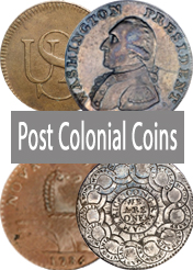 U.S. Post Colonial Coin Images, Values, Identification