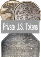 U.S. Private Tokens Images, Facts, Values