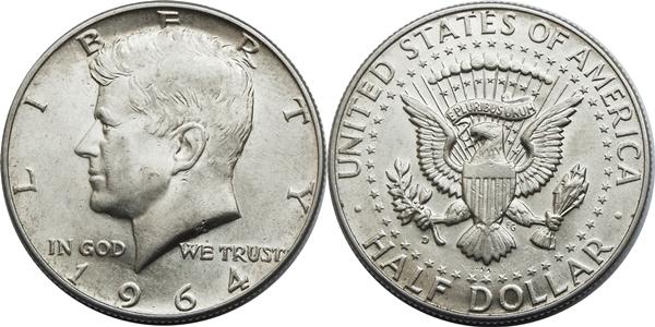 Kennedy Half Dollar AU55 Coin Grading Image