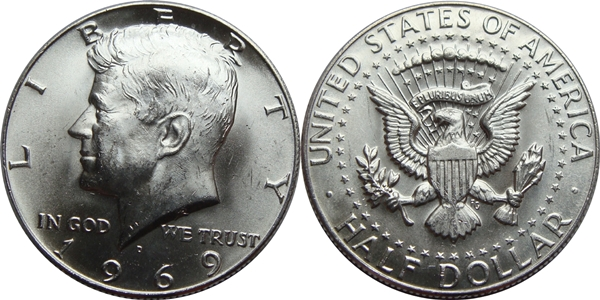 Kennedy Half Dollar MS63 Coin Grading Image