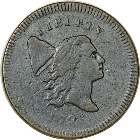 1795 Liberty Cap Half Cent Plain Edge No Pole