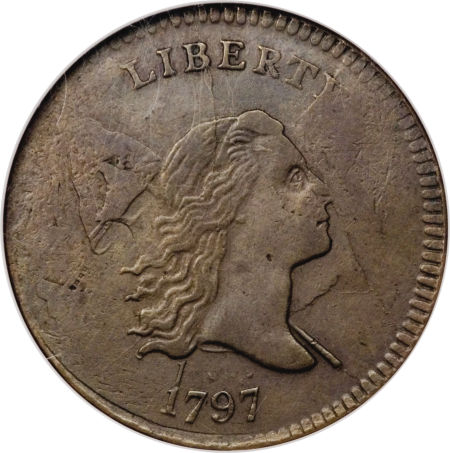 1797 Liberty Cap Half Cent, 1 Over 1
