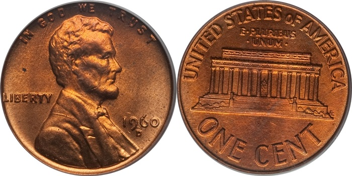 Lincoln Memorial Cent Vaue MS64