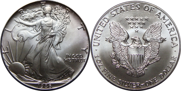 1986 Bullion Silver Eagle Image