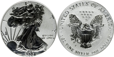 2006-P American Silver Eagle Image Reverse Proof