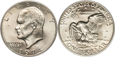 Eisenhower Ike Dollar Us Coin Values Coinhelp