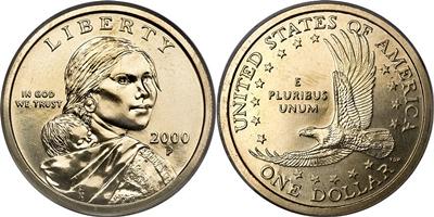 Coin Value: US Sacagawea Dollar 2000 to 2008