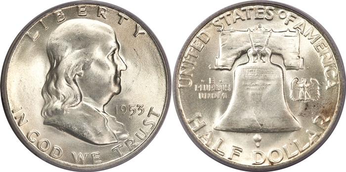 MS65 FBL Franklin Half Dollar Image