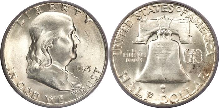 MS65 FBL Franklin Half Dollar Image