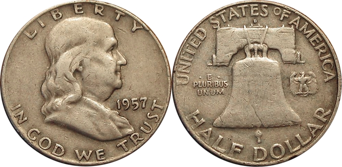 Very Fine VF35 Franklin Half Dollar Image