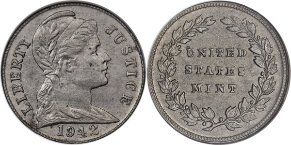 1942 US Plastic Coin Centavo Cent Pattern