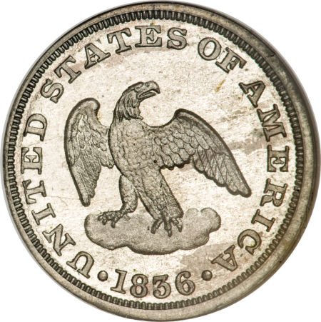1836 Eagle P2C Two Cents, Judd-52, Pollock-55, Low R.6