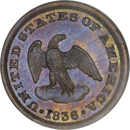 1836 Eagle P2C Two Cents, Judd-54, Pollock-57, Low R.6