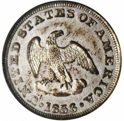 1836 Eagle P2C Two Cents, Judd-56A, Pollock-58, R.8, MS63