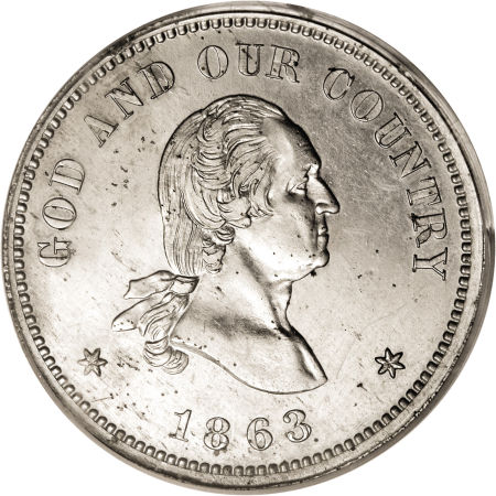 1863 Washington 2C Two Cents, Judd-308, Pollock-373, R.8