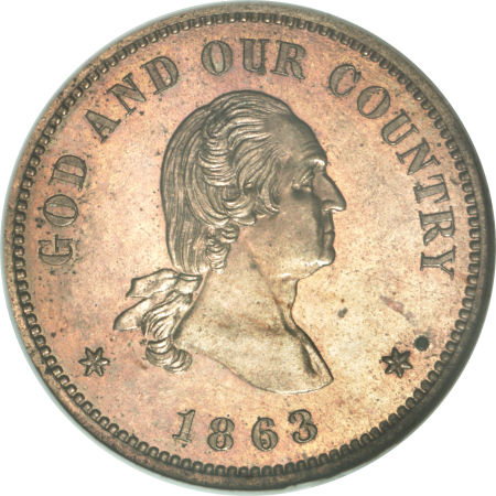 1863 Washington 2C Two Cents, Judd-310, Pollock-375, Low R.7