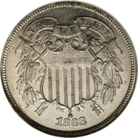 1868 2C Two Cents, Judd-614, Pollock-679, Low R.7