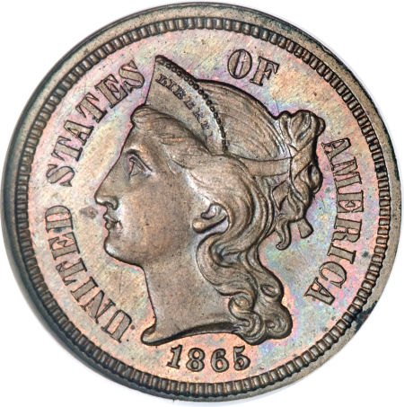 Three Cent Pattern Coin Image Values